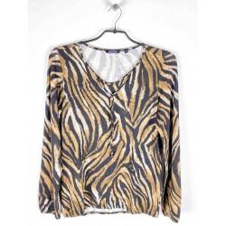 Tee-shirt Blue Seven Femme Leopard