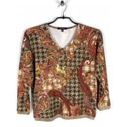 Tee-shirt Azay Manches longues Motif Cachemire