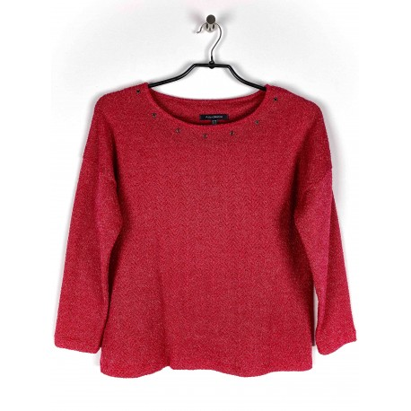 Pull Azay maille uni Rouge
