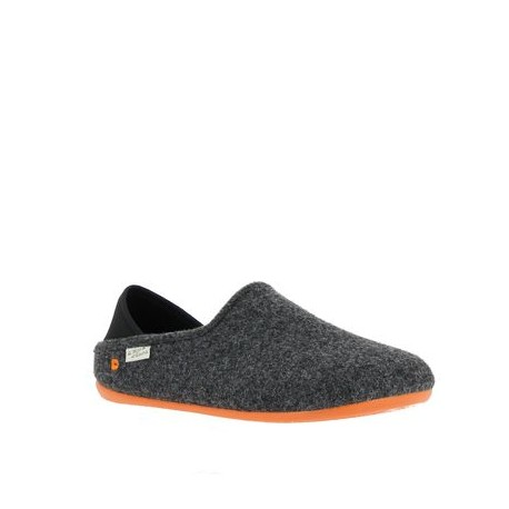 Mule bi-colo Gris/Orange