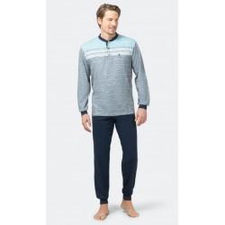 Pyjama Hajo Rayé Bleu / Vert