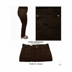 Jeans Dora confort fit brun