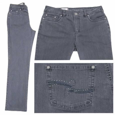 Jeans Dora confort fit gris