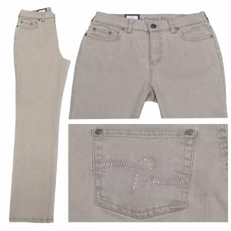 Jeans Dora confort fit beige